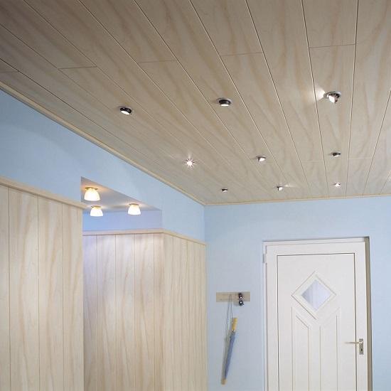 сочетание мдф на потолке и стенах