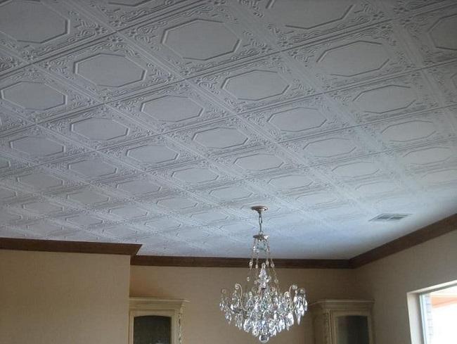 потолочная плитка из пенопласта под старину