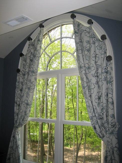 точечные держатели для арочных окон