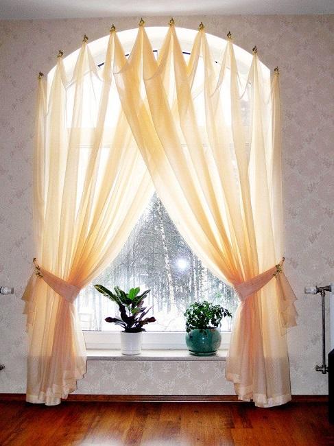 тюли на арочные окна