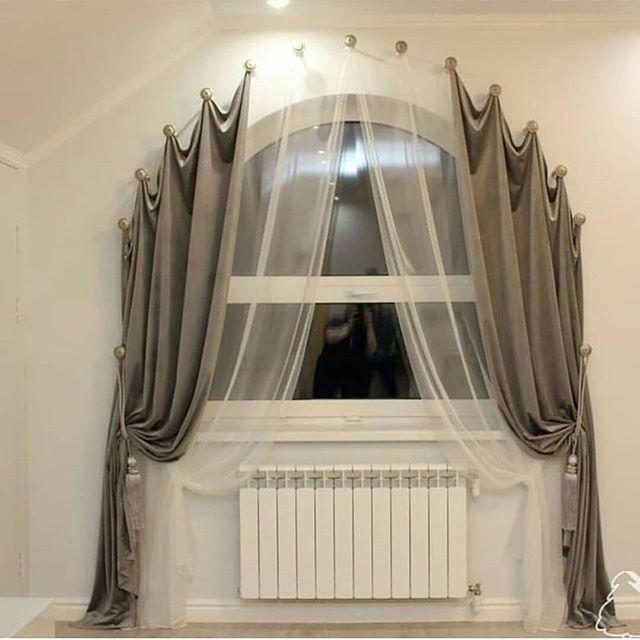 держатели для штор арочных окон