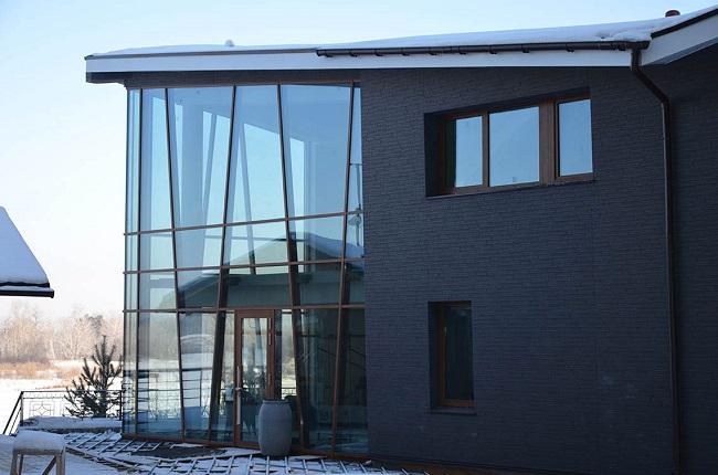 алюминиевое витражное остекление частного дома