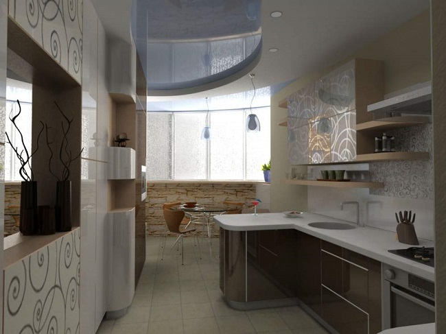 кухня с балконом 10 кв. м.