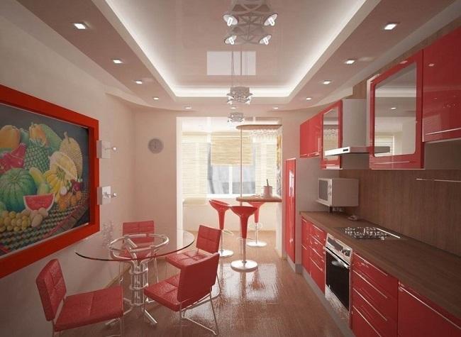 дизайн кухни с балконом 12 кв. м.