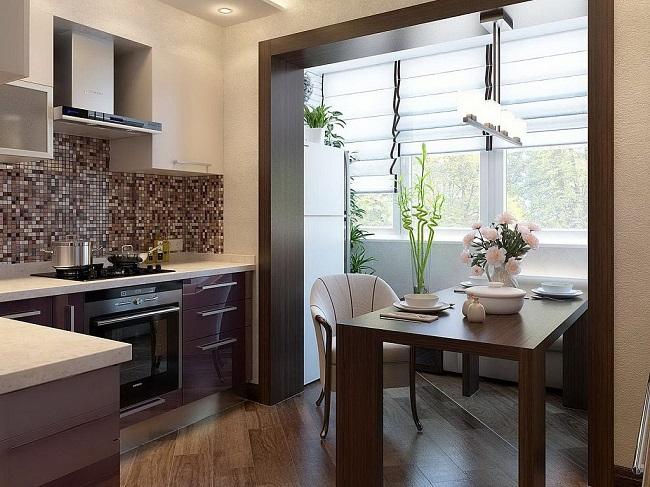 дизайн кухни с балконом 8 кв м