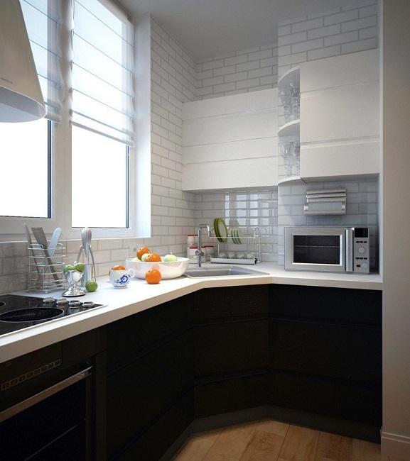 кухонный гарнитур на балконе