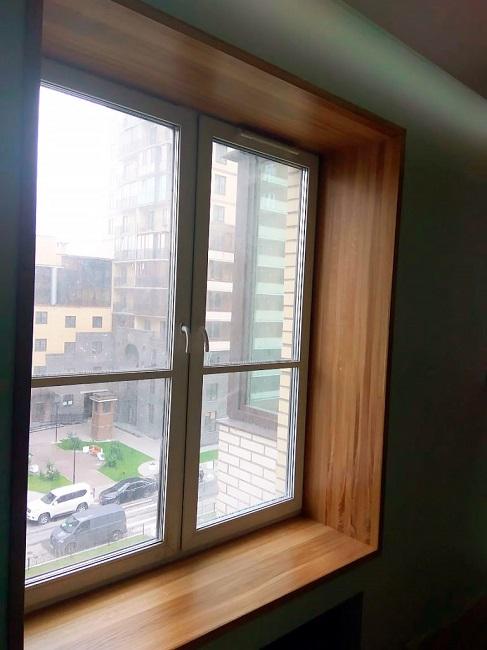 деревянные откосы для пластиковых окон из ясеня