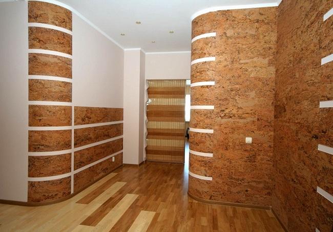 бамбуковые стеновые панели в интерьере квартиры