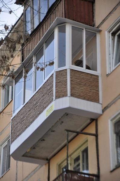 хордовое остекление балкона