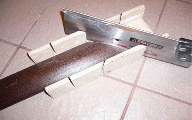 обрезка наличников в стесле под 45 градусов