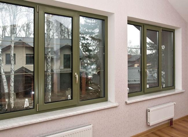 темно зеленые окна в интерьере