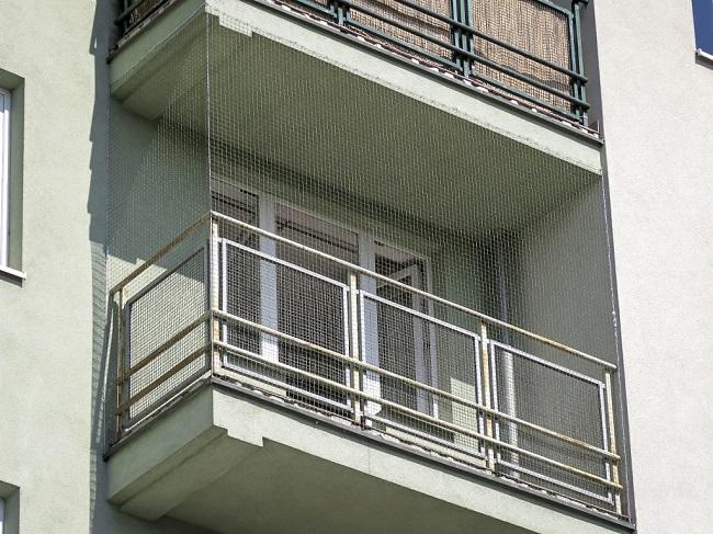 сетка от голубей на балкон