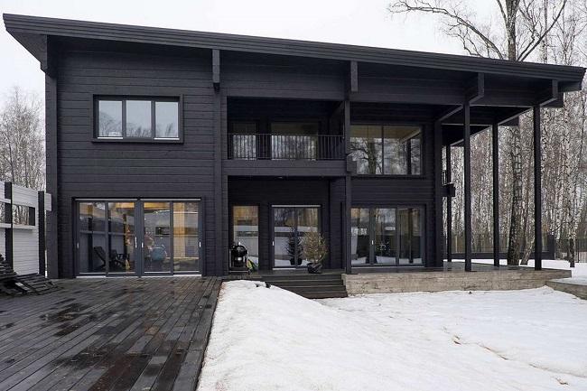 черные окна для современного дома