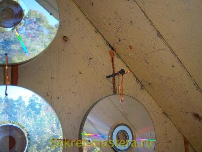 гирлянда из cd дисков на балкон