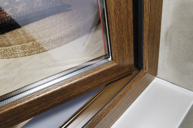 пвх окно окрашенное в массе
