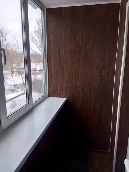 отделка хрущевского балкона ламинатом