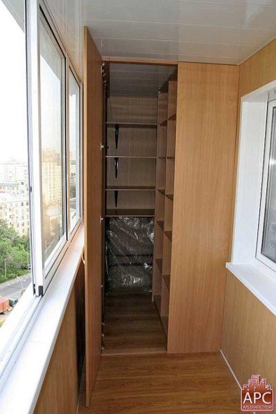 гардеробная на хрущевском балконе
