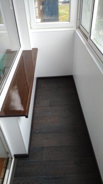 линолеум на хрущевском балконе