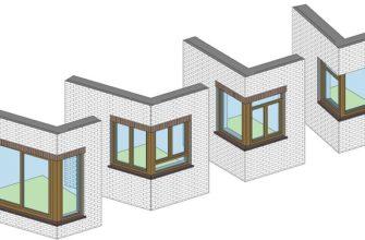 виды угловых окон для частного дома