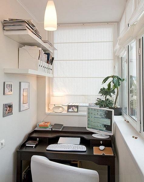рабочий кабинет в хрущевском балконе