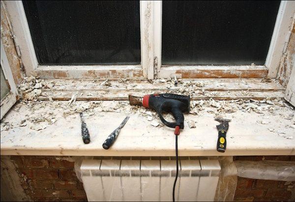 замена замазки на окнах