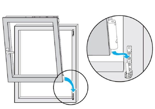снятие и установка створки пластикового окна