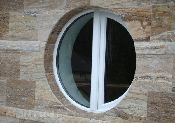 круглое окно с импостом