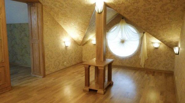 шторы с ламбрекенами для круглых окон
