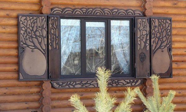ставни для бревенчатого дома