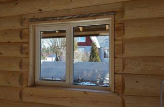 утсановка пластиковых окон в деревянном доме с обсадой