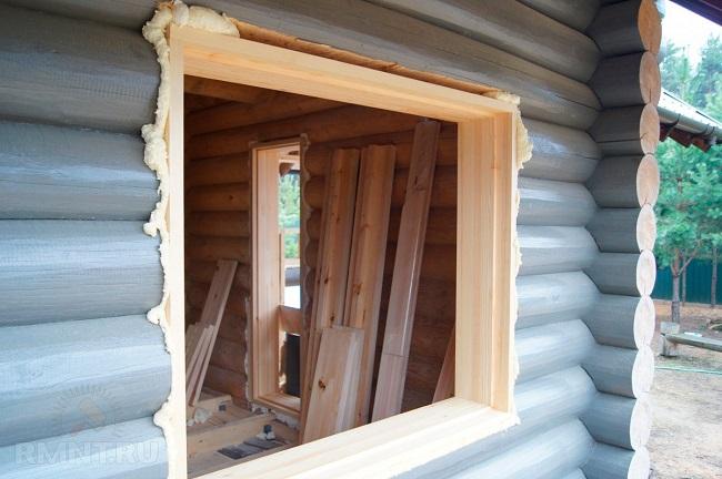 обсада для деревянного дома