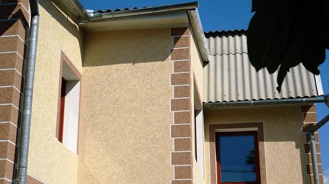 штукатурка короед для фасада дома