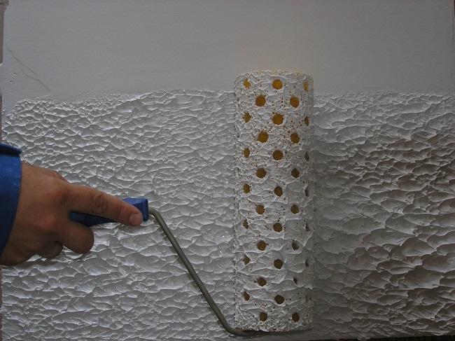 фактурная шпаклевка стен валиком