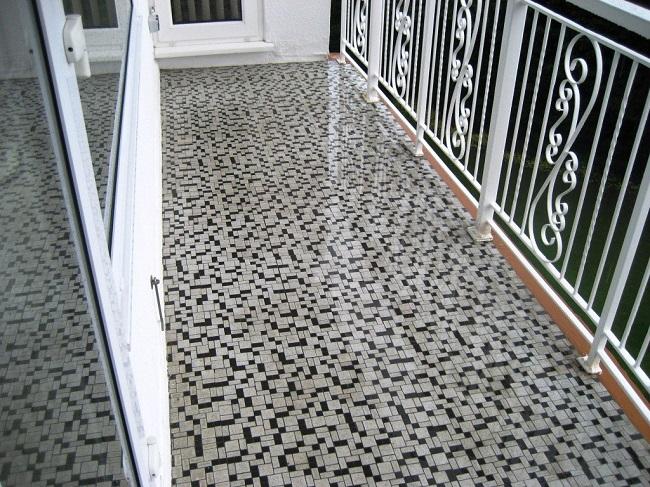 красивая плитка на пол балкона