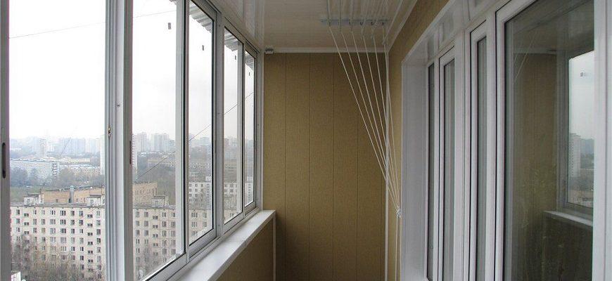 отделка балкона с алюминиевыми окнами