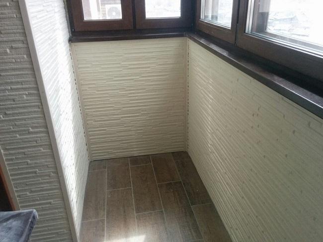 отделка балкона фиброцементными панелями