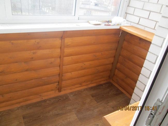 отделка парапета балкона блок хаусом