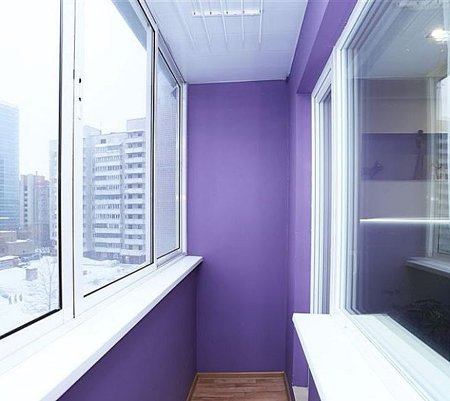покраска балкона на шпаклевку
