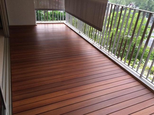 декинг на открытый балкон