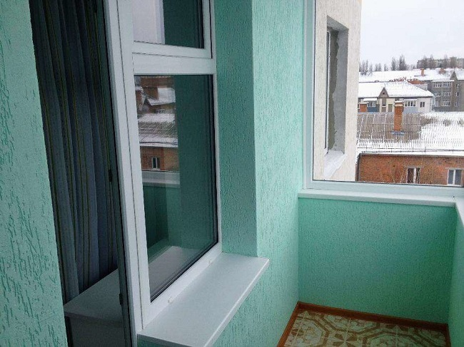 штукатурка под покраску на балконе