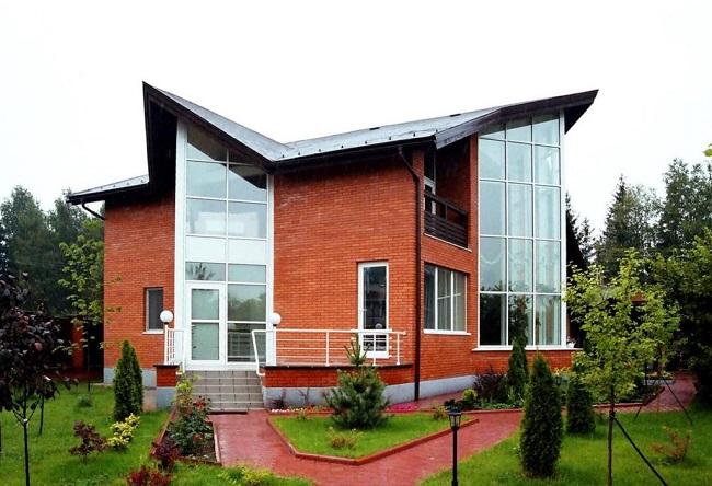 фасадное остекление частных домов