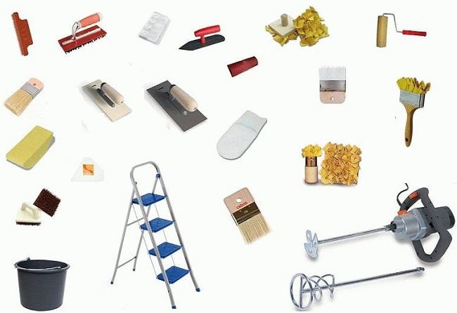 инструменты для нанесения фактурной краски
