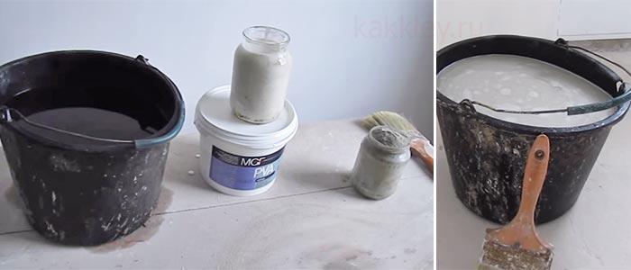 грунтовка для стен своими руками рецепт из пва