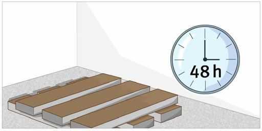 ламинат заносится в помещение на 48 часов