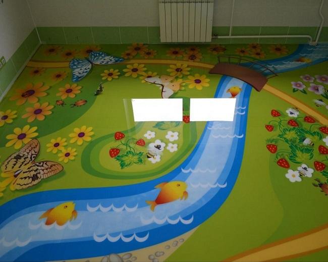 наливной пол в детской комнате