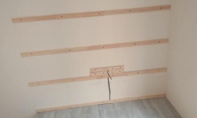 обрешетка ламината на стену
