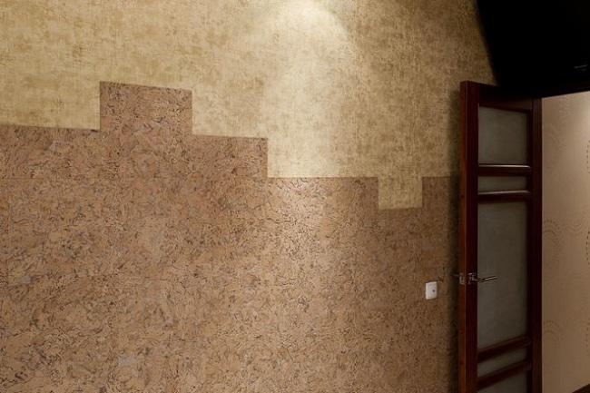 пробка на стене с разным оттенком
