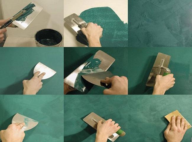 технология нанесения венецианской штукатурки по слоям