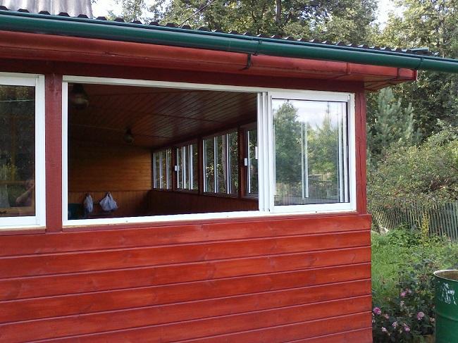 сдвижные окна для веранды