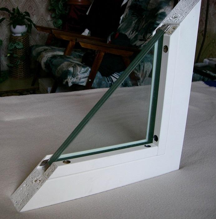 окно противопожарное в разрезе